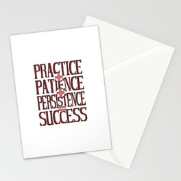 Success, marsala Stationery Cards