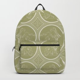 Grisaille Antique Gold Neo Classical Ovals Backpack