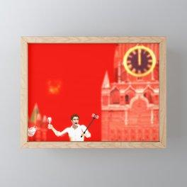 SquaRed: Fireworks Framed Mini Art Print