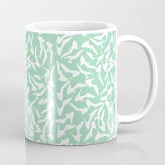 Shoes White on Mint Coffee Mug