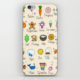 Alphabet iPhone Skin