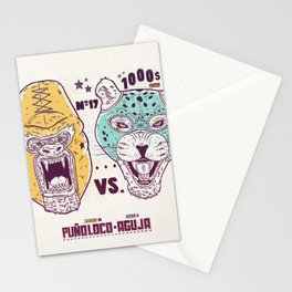 Luchadores Stationery Cards