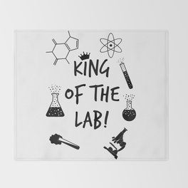 King of The Lab 2 Throw Blanket