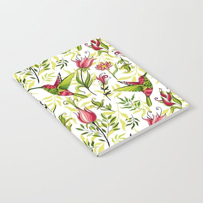 Hummingbird and flowers Notebook