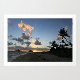 Sunrise Lankai Beach, Oahu, Hawaii Art Print