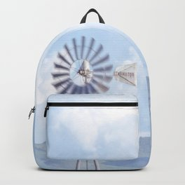 """Blue Windmill Blue Sky"" by Murray Bolesta Backpack"