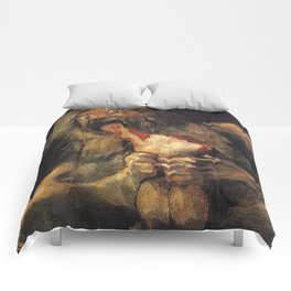 SATURN DEVOURING HIS SON - GOYA Comforters