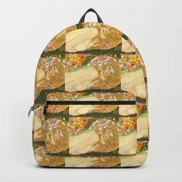 """Gustav Klimt """"Water Serpents"""" (detail) Backpack"""