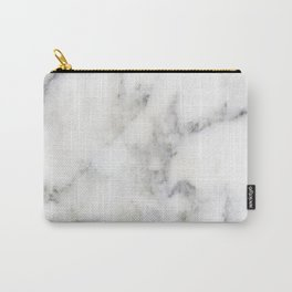 Gray faux marble Carry-All Pouch
