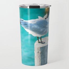 Shy Bird Sunbathing Travel Mug