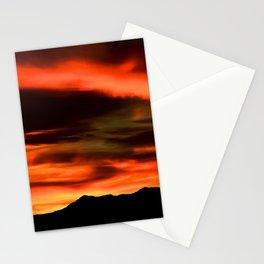 SW Orange Mountain Sunrise - II Stationery Cards