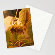 The Sun has Set and tomorrow, God willing, it will rise again [SUNFLOWER] [WILTING] [YELLOW SKY]  Stationery Cards