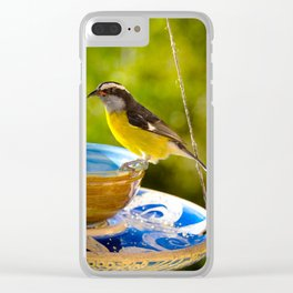 Caribbean Bananaquit Clear iPhone Case