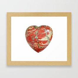 Big Red Jasper Heart - Side 2 Framed Art Print