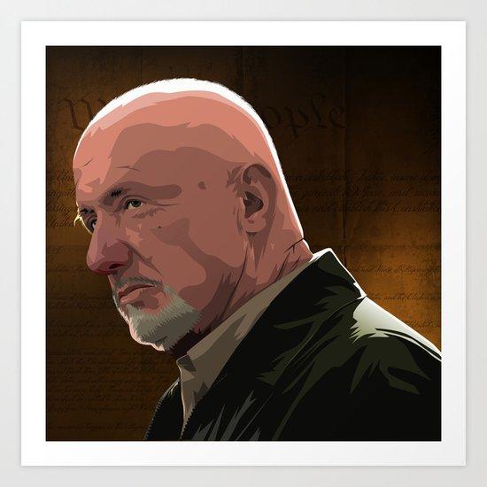 Breaking Bad Illustrated - Mike Erhmantraut Art Print