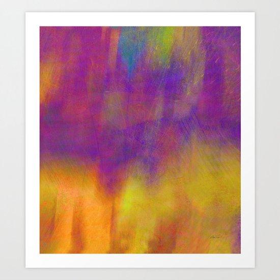 Purple Dawn abstract art  by Ann Powell Art Print