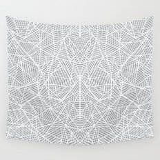Abstract Lace on Grey Wall Tapestry