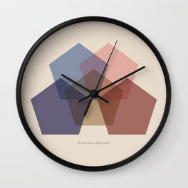 Rose Five Wall Clock
