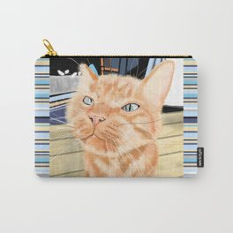 Sniffy Ginger Tabby Cat Carry-All Pouch