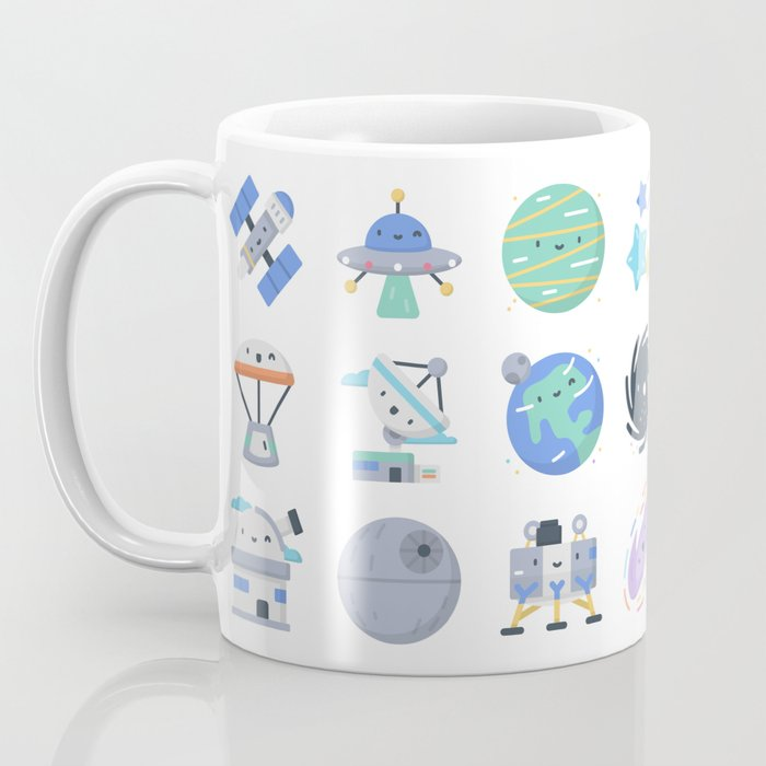 CUTE OUTER SPACE / SCIENCE / GALAXY PATTERN Coffee Mug