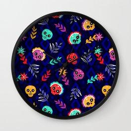 Fiesta Skulls #society6 #skulls Wall Clock