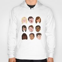 parks Hoodies featuring Parks and Rec by Emma Ehrling
