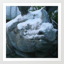 Snow On Rino Art Print