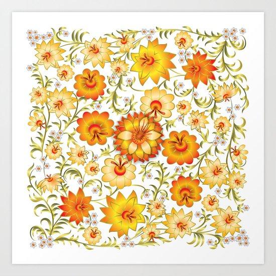 Shabby flowers #13 Art Print
