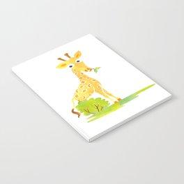 Baby Animal Watercolor Giraffe Adorable Nursery Notebook