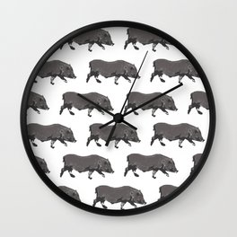 Fat Little Pig Pattern Wall Clock