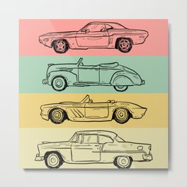 retro car Metal Print