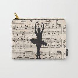 ballerina art, music Notes , girls nursery art, ballerina décor , girls nursery art , Carry-All Pouch