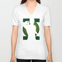 green lantern V-neck T-shirts featuring SuperHeroes Shadows : Green Lantern by Lily's Factory