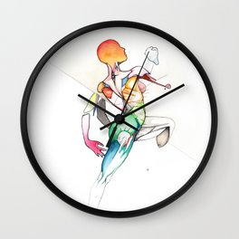 Truth or Aio, female nude dancer, NYC artist Wall Clock