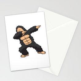 Dabbing Gorilla Shirt Ape Monkey Big Foot Dab Kids Stationery Cards