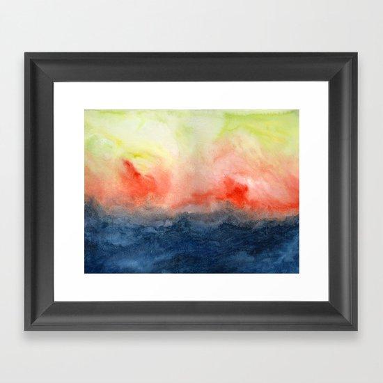Brush Fire Framed Art Print