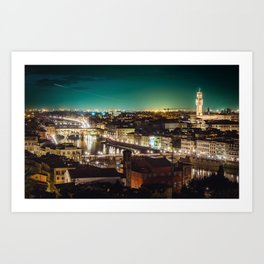 Firenze at Night Art Print