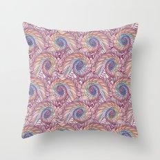 Peacock Swirl - Multi Throw Pillow