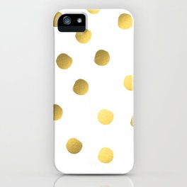 Painted spots of gold iPhone Case