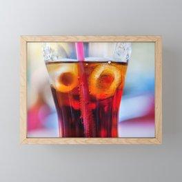 Coke and Ice Framed Mini Art Print