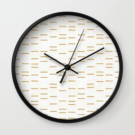 OCHRE LINE Wall Clock