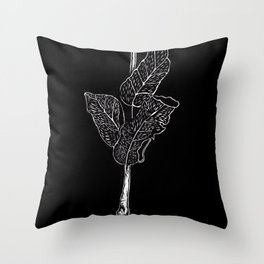 Wood cut leaves Throw Pillow