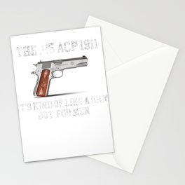 It's Kind Of Like A 9mm But For Man Funny ACP 1911 Stationery Cards