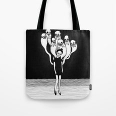monster don't sleep under your bed they sleep inside your head Tote Bag