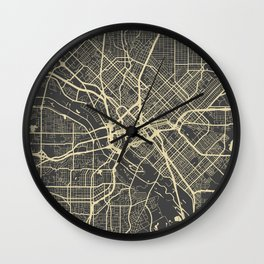 Dallas map Wall Clock