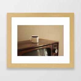 Vintage Mug and TV Framed Art Print