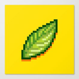 Pixel Leaf Canvas Print