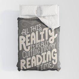 Reality Vs. Reading Grey Swirls Comforters