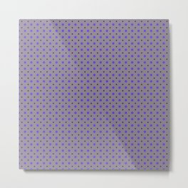 Violet Dots Pattern Metal Print