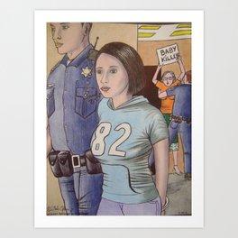 casey anthony in custody Art Print